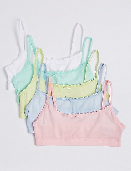 5 Pack Cotton Cropped Tops (6-16 Years)