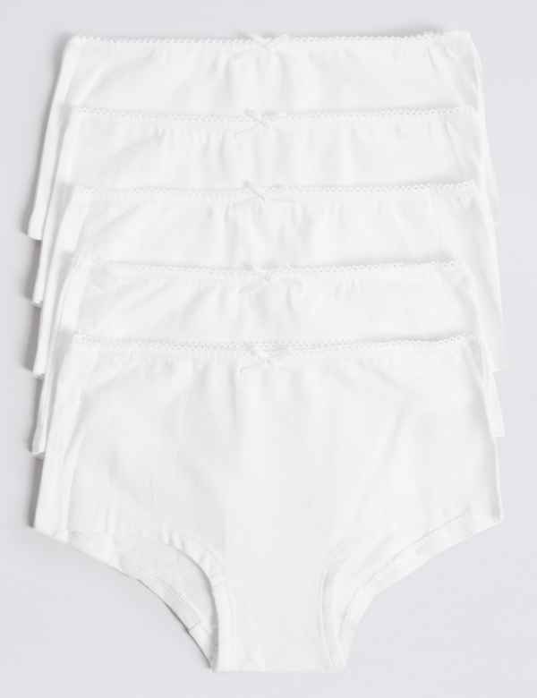 2a976554953f6 5 Pack Cotton with Stretch Shorts (6-16 Years)