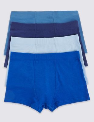 4 Pack Cotton with Stretch Trunks (18 Months - 16 Years)