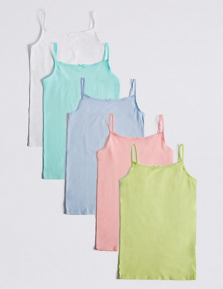 Cotton Camisole Vests with Stretch (18 Months - 16 Years)