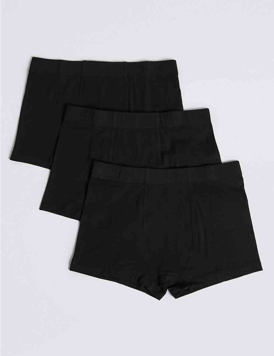 8eeba91850 4 Pack Cotton Trunks with Stretch (18 Months - 16 Years) | M&S