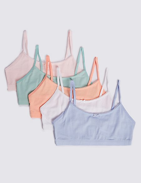 5 Pack Cropped Tops with Lycra (6-16 Years)