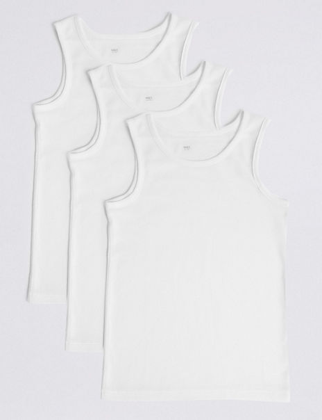 3 Pack DreamSkin® Pure Cotton Vests (18 Months - 16 Years)