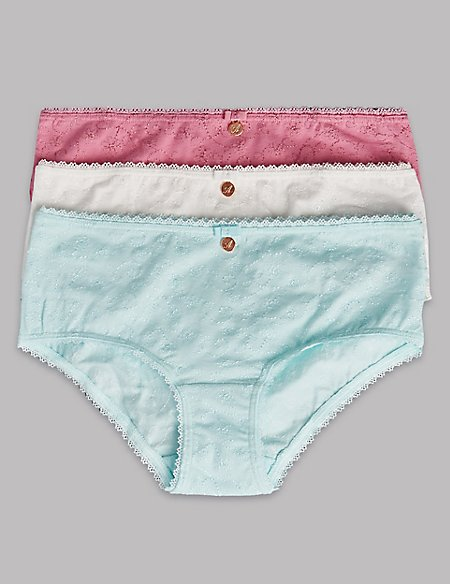 Cotton Rich Embroidered Shorts (6-16 Years)