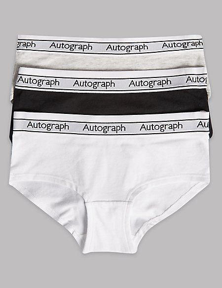 3 Pack Cotton Shorts with Lycra (7-16 Years) black/white Marks and Spencer Best Store To Get Cheap Online Clearance Online Ebay Clearance Hot Sale Browse Cheap Price Free Shipping Fake Ok3Sz