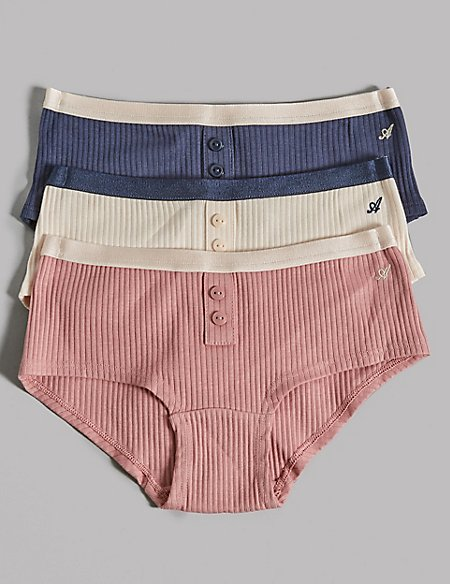 3 Pack Cotton Shorts with Lycra (6-16 Years)