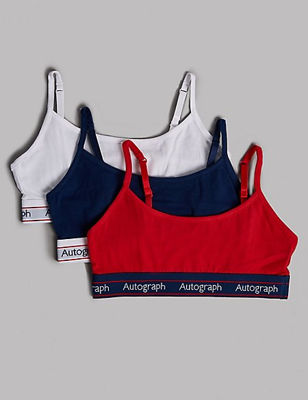 3 Pack Cropped Tops with Lycra (6-16 Years)