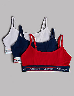 3 Pack Crop Tops with Lycra (6-16 Years)