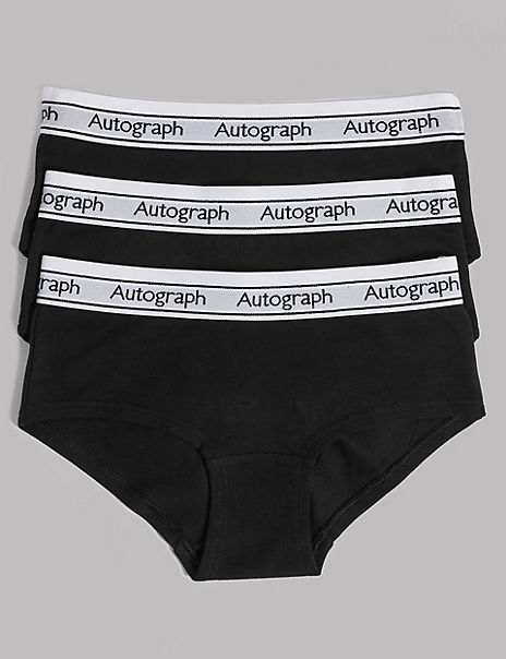 3 Pack Cotton with Stretch Shorts (6-16 Years)