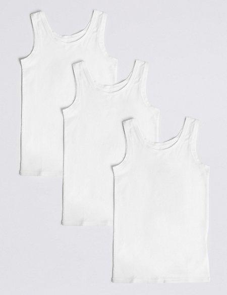 3 Pack Cotton Flexifit™ Vests (18 Months - 16 Years)