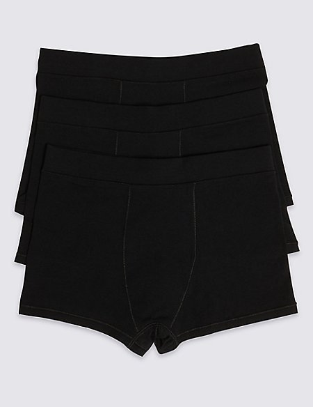 3 Pack Cotton Trunks with Lycra (18 Months - 16 Years)
