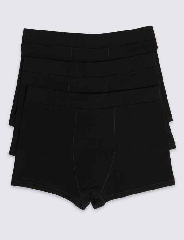 3 Pack Cotton Trunks with Flexifit™ (18 Months - 16 Years) d5aaa67d4c