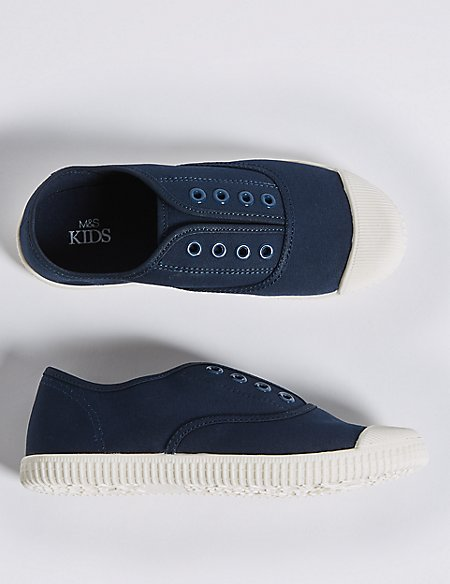 Kids' Canvas Laceless Trainers (13 Small - 7 Large)