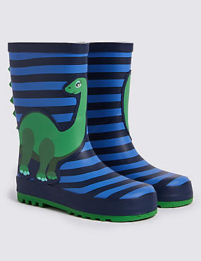 Dinosaur Striped Wellies (5 Small - 12 Small)