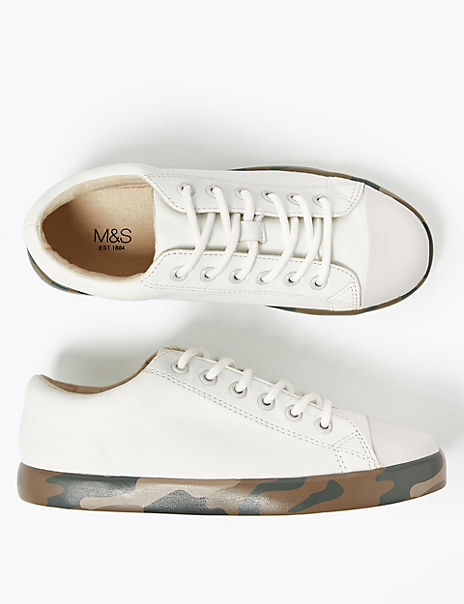 Kids' Camouflage Sole Trainers (13 Small - 7 Large)