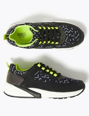 Kids' Chunky Sole Print Trainers (13 Small - 7 Large)
