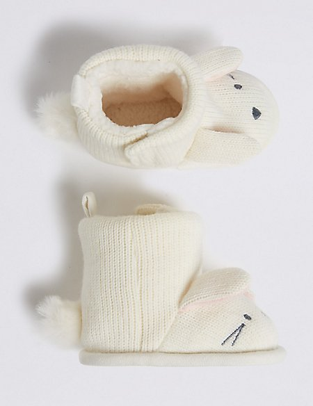 Baby Bunny Knitted Pram Boots