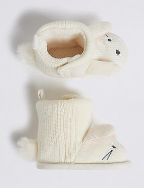 Kids' Riptape Knitted Pram shoes