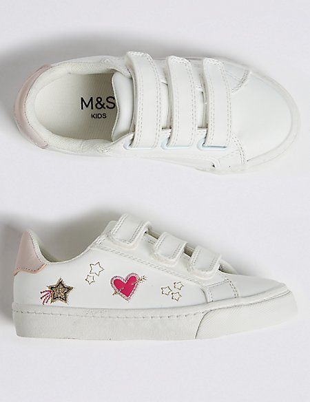 Kids' Embroidered Trainers (5 Small - 12 Small)
