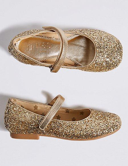 Kids' Glitter Ballerina Shoes (5 Small - 12 Small)