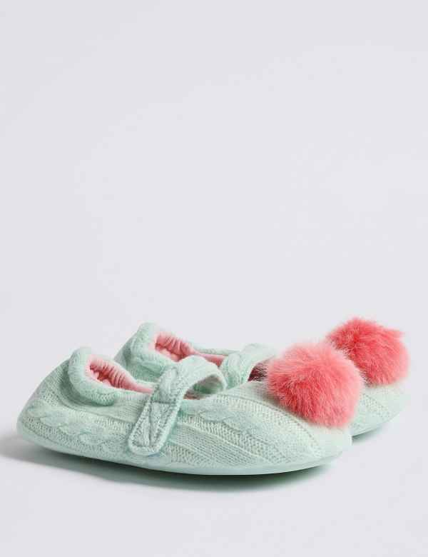 f539c3bb146d2 Kids  Pom-pom Slippers (5 Small - 12 Small)