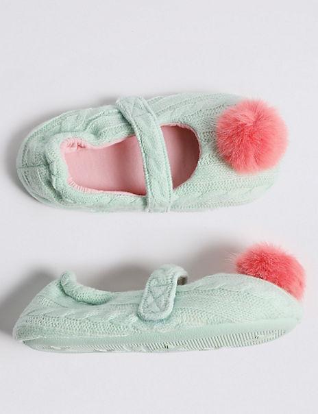 Kids' Pom-pom Slippers (5 Small - 12 Small)