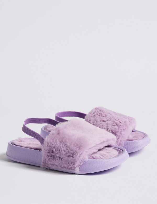2a07da3313c Kids  Faux Fur Slippers (5 Small - 12 Small)