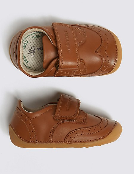 Kids' Walkmates™ Leather Brogues Shoes (2 Small - 5 Small)
