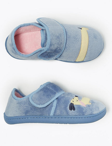 Kids' Applique Riptape Slippers (5 Small - 12 Small)