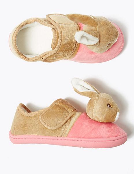 Kids' Peter Rabbit™ Flopsy Riptape Slippers (5 Small - 12 Small)