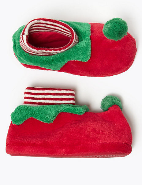 Kids' Elf Slippers (5 Small - 7 Large)