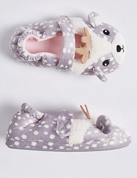 Kids' Deer Ballet Slippers (5 Small - 12 Small)