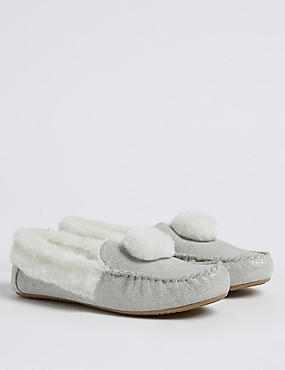 Kids' Moccasin Slippers (5 Small - 5 Large)