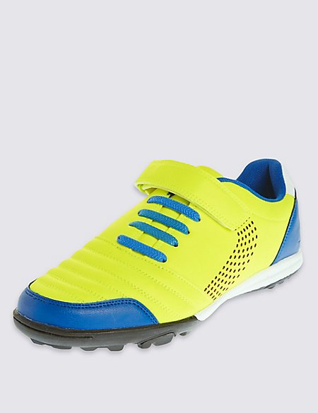 Kids' Freshfeet™ Astro & Riptape Bright Trainers with Silver Technology