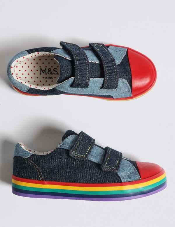 dc39d56b70ad40 Kids  Rainbow Fashion Trainers (5 Small - 12 Small)