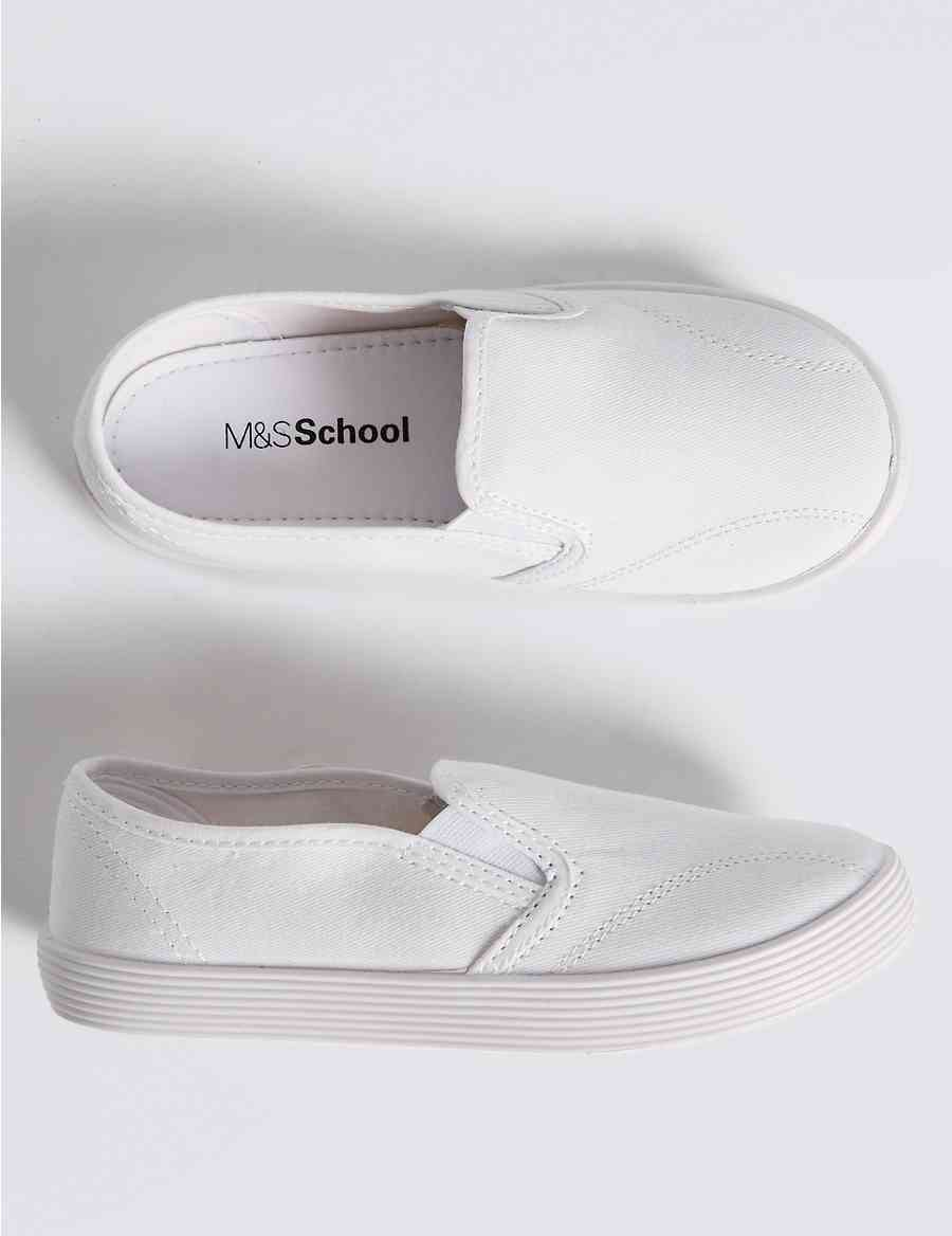 3609771e50a2 Kids  Canvas Pull-on Plimsolls (7 Small - 4 Large)
