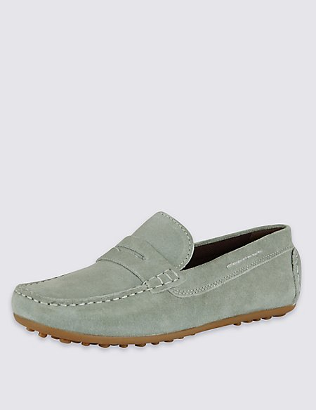 Kids' Stain Resistance Suede Slip-On Shoes