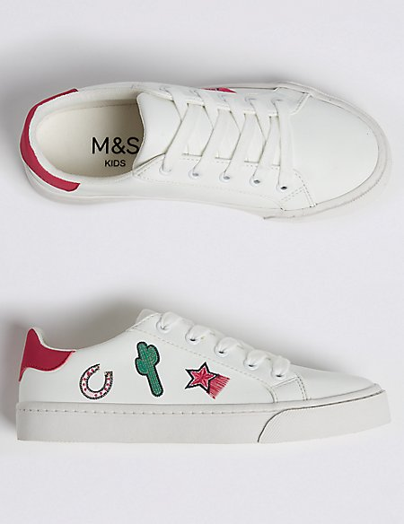 Kids' Embroidered Fashion Trainers (13 Small - 6 Large)