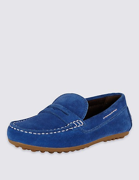 Kids' Stain Resistance Suede Driving Shoes