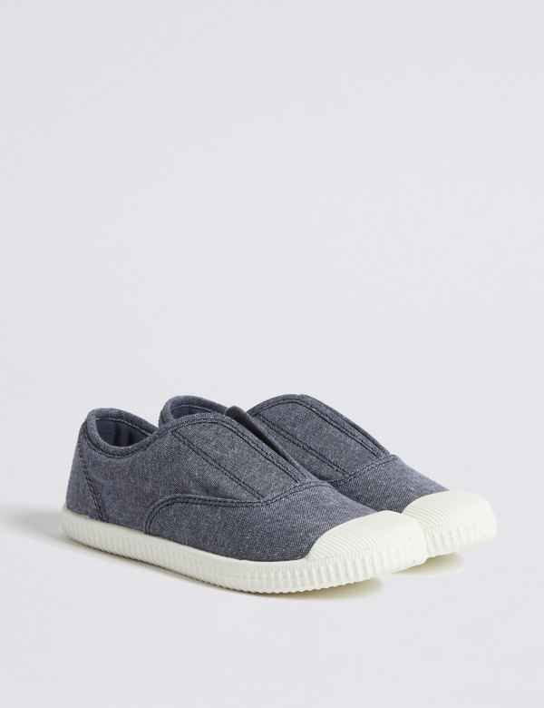 88c591f4ce70 Kids  Laceless Trainers (4 Small - 12 Small)