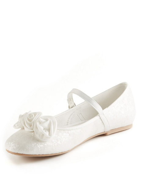 Kids' Bridesmaid Corsage Cross Bar Shoes