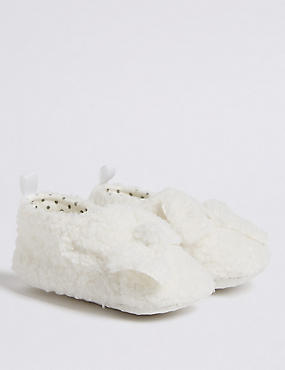 Baby Textured Bow Pram Shoes