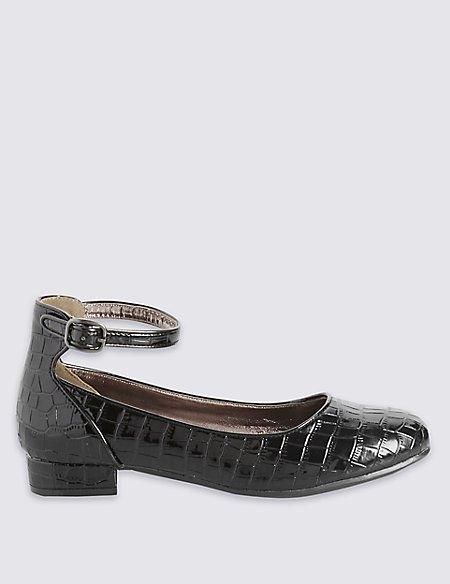 Kids' Block Heel Ballerina Shoes