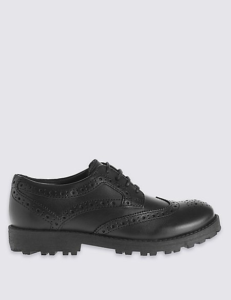 Kids' Leather Brogue Shoes