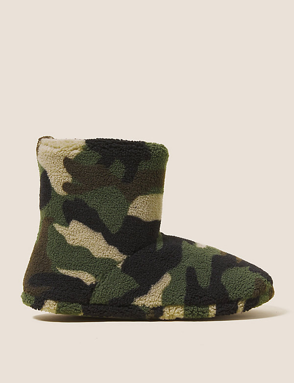 Kids' Camouflage Slipper Boots (5 Small - 7 Large)
