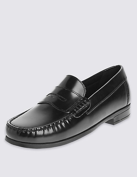 Kids' Freshfeet™ Leather Penny Loafers with Insolia Flex®
