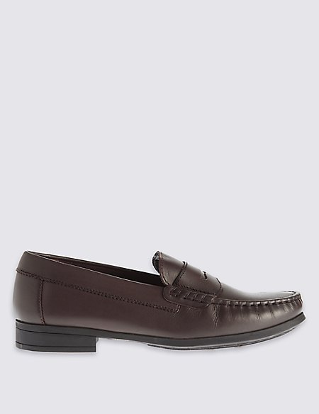 Kids' Pure Leather Penny Loafers