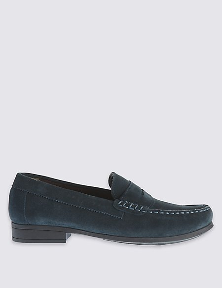 Kids' Leather Penny Loafers