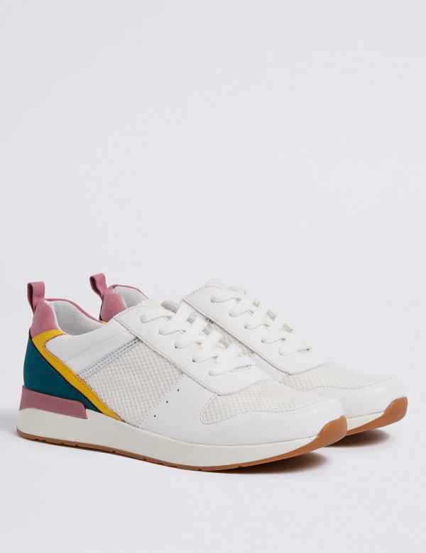 1e566a117ca Kids  Colour Block Trainers (13 Small - 6 Large)