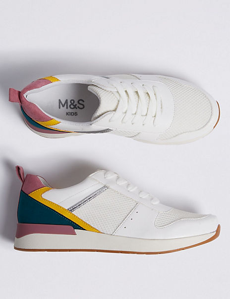 Kids' Colour Block Trainers (13 Small - 6 Large)